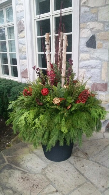 seasonal planters and pots