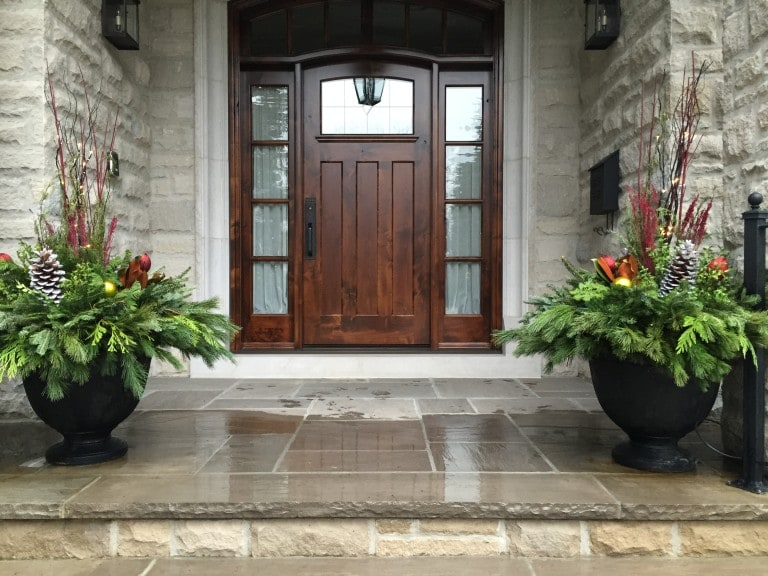 Custom winter urns