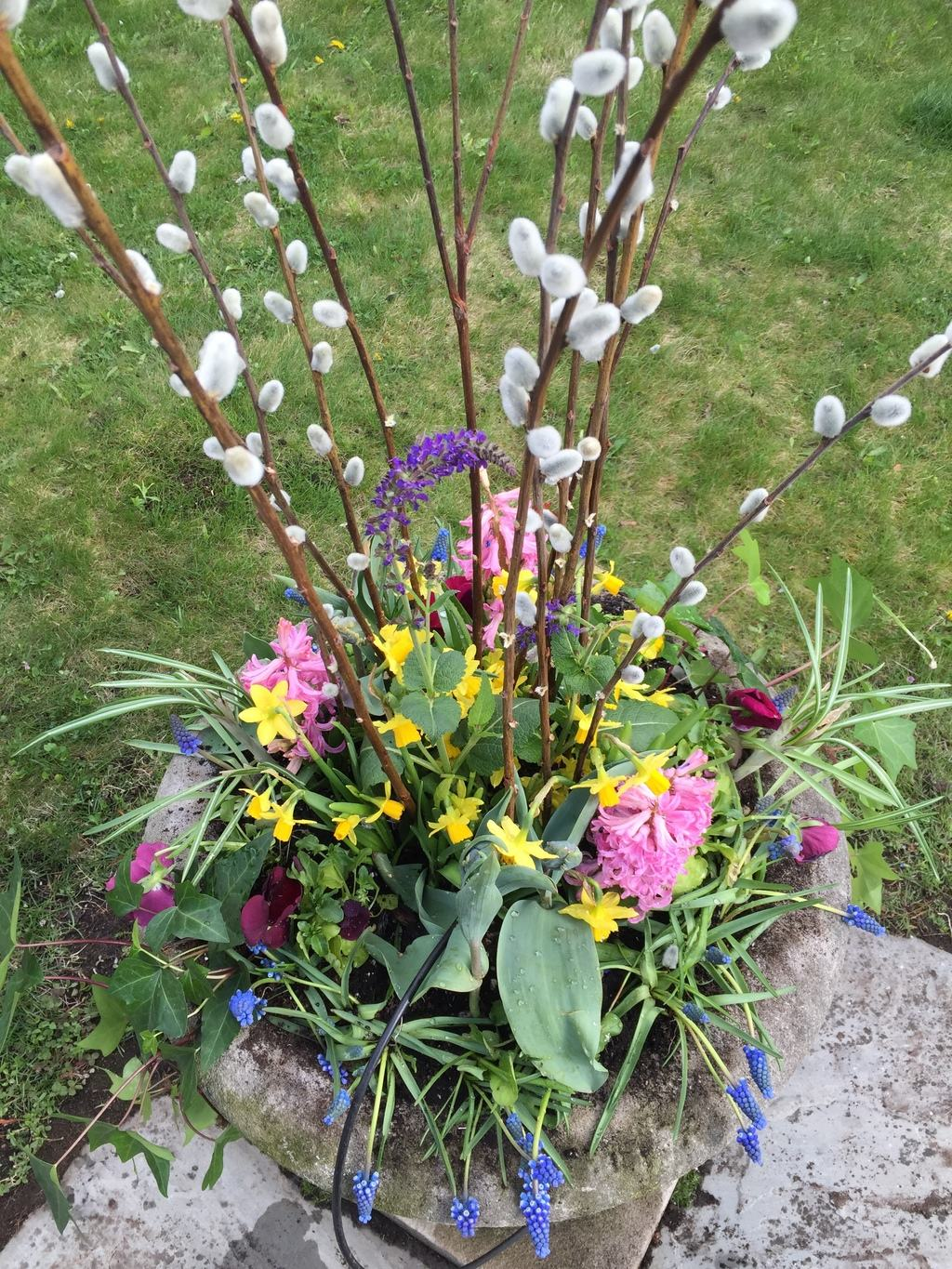 spring planters, pots and urns