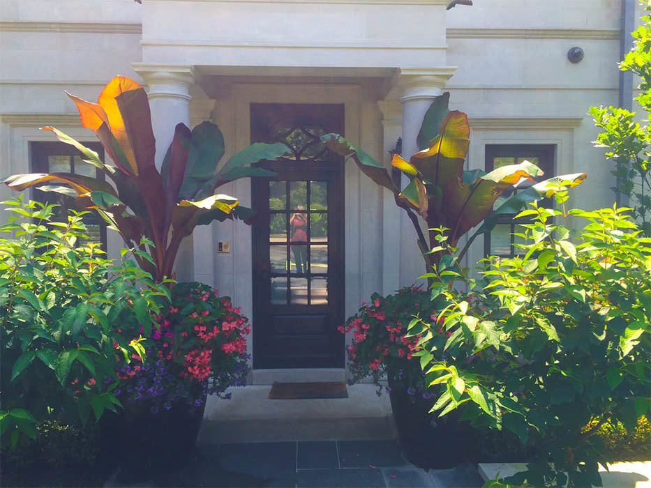 custom urns with palms